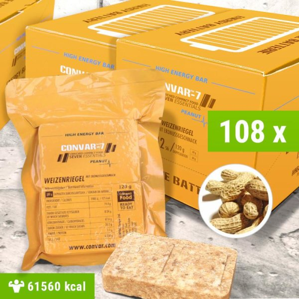 108 x CONVAR-7 High Energy Bar - Peanut 120g