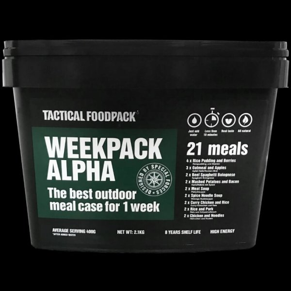 Tactical Foodpack Week Pack Alpha
